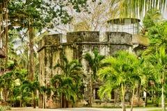Afrika, malerischer Bereich von La Pointe Zusatz-Canonniers in Mauritiu Stockfotos