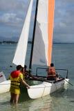 Afrika, malerischer Bereich von La Pointe Zusatz-Canonniers in Mauritiu Lizenzfreies Stockfoto