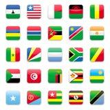 Afrika-Markierungsfahne b Stockfotos