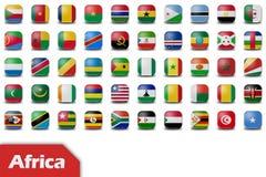 Afrika-Markierungsfahnentasten stock abbildung