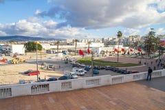 Afrika Marocko, Tanger, stad, stads- sikt, folk, springbrunn 2 Fotografering för Bildbyråer
