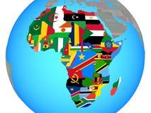 Afrika mit Flaggen auf Karte vektor abbildung