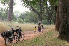 Afrika mit Mopeds Lizenzfreies Stockfoto