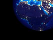 Afrika nachts vom Raum lizenzfreie abbildung
