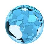 Afrika op doorzichtige Aarde Stock Foto's