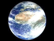 Afrika op een aardebol Stock Afbeelding
