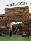 Afrika paviljong på den globala byn i Dubai, UAE Royaltyfria Foton