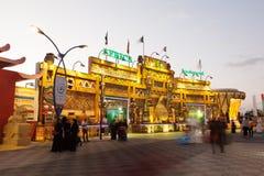 Afrika-Pavillon am globalen Dorf in Dubai Stockfotografie