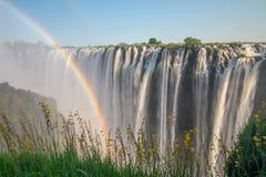 Afrika ` s Victoria Falls Arkivfoton