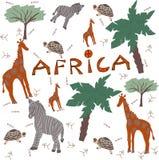Afrika-Safaritiere lizenzfreie abbildung