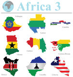 Afrika samling 3 Royaltyfria Bilder