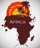 Afrika, savannahfaunor och flora Royaltyfria Bilder