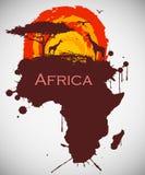 Afrika, savannahfaunor och flora Royaltyfria Foton