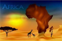 Afrika, savannahfaunor och flora Arkivbilder