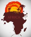 Afrika, Savannenfauna und Flora Lizenzfreie Stockbilder