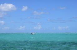 Afrika, schilderachtige aera van Blauwe Baai dichtbij Mahebourg Stock Foto's