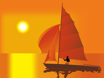 Afrika_sea_boat Stock Images
