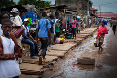 Afrika Sierra Leone, Freetown arkivfoto