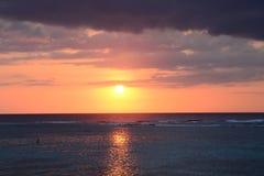Afrika solnedgång i Mont Choisy i Mauritius Royaltyfri Foto