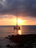 Afrika, Sonnenuntergang in Mont Choisy in Mauritius Lizenzfreies Stockfoto