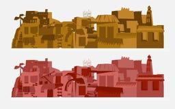Afrika stadsbakgrund - Arkivbilder