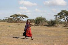 Afrika, Tanzania, Frauenmasai Stockbilder
