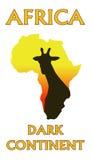Afrika und Giraffe Stockfoto