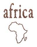 Afrika und Kaffee Lizenzfreie Stockfotos