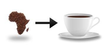 Afrika und Kaffee Stockfotos
