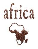 Afrika und Kaffee Stockfoto