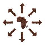Afrika und Kaffee Stockfotografie