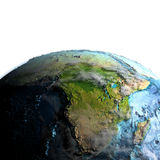 Afrika van ruimte in de ochtend stock illustratie