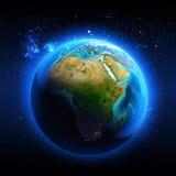 Afrika van ruimte wordt gezien die stock illustratie