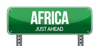 Afrika-VerkehrsVerkehrsschild stock abbildung