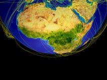 Afrika vom Raum auf Erde vektor abbildung