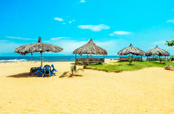 afrika Zonovergoten strand in Monrovia, Liberia Royalty-vrije Stock Afbeeldingen