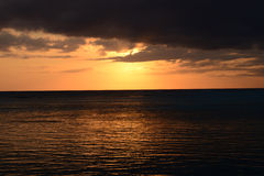 Afrika, zonsondergang in Mont Choisy in Mauritius Stock Afbeeldingen