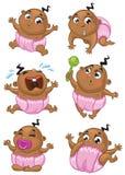 Afrikaans Amerikaans babymeisje Stock Foto