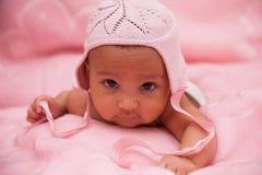 Afrikaans Amerikaans babymeisje - Zwarte mensen stock foto