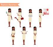 Afrikaans Amerikaans karakter voor scènes Stock Afbeeldingen