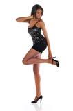 Afrikaans Amerikaans model stock afbeeldingen