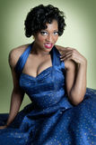 Afrikaans Amerikaans Model Pinup Royalty-vrije Stock Afbeelding