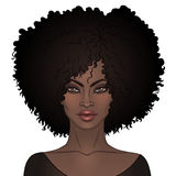 Afrikaans Amerikaans mooi meisje Vectorillustratie van Zwarte stock illustratie