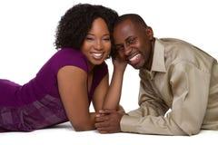 Afrikaans Amerikaans Paar royalty-vrije stock afbeeldingen