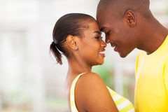 Afrikaans Amerikaans paar royalty-vrije stock foto