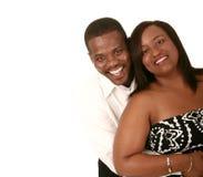Afrikaans Amerikaans Paar Huggin Stock Afbeelding