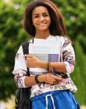 Afrikaans-Amerikaans studentenmeisje Royalty-vrije Stock Foto's