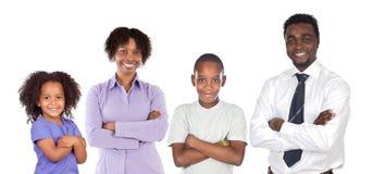 Afrikaans-Amerikaanse familie Stock Afbeelding