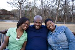 Afrikaans-Amerikaanse Familie Royalty-vrije Stock Foto