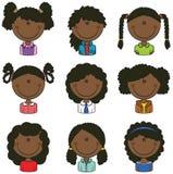 Afrikaans-Amerikaanse Meisjesavatar Royalty-vrije Stock Afbeelding